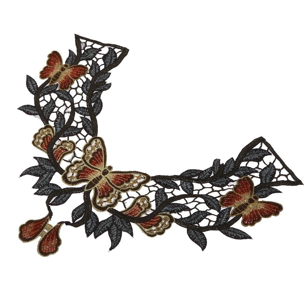 Patrón Retro De Mariposa Diseño Acoplamiento Bordado Elega ...
