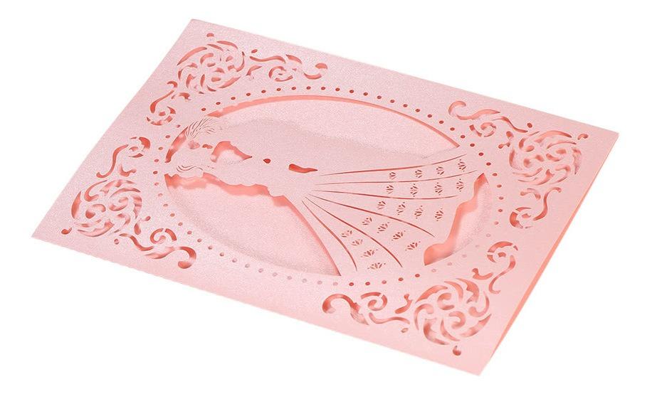 Patrón Tarjetas De Invitación Para Aniversario De Boda Rosa