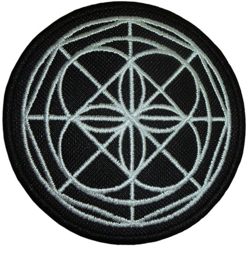 patrón universal kenpo parchos bordados tamaño 10 x 10 cm.