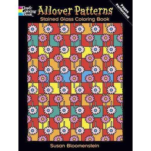 patrones allover vidrieras para colorear libro