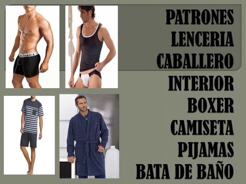 Patrones Boxer Interior Pijamas Camiseta Lencería Caballero - Bs ... ef1ef276e000