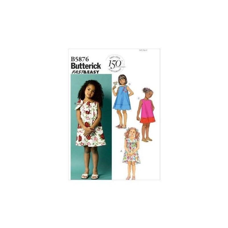 Patrones Butterick B5876 Plantillas De Costura Para Niños De ...