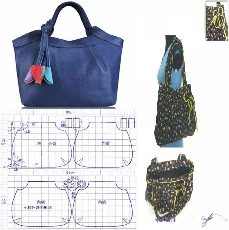 Patrones Confecciones Moldes Diseños Bolsas Carteras + Ideas ...