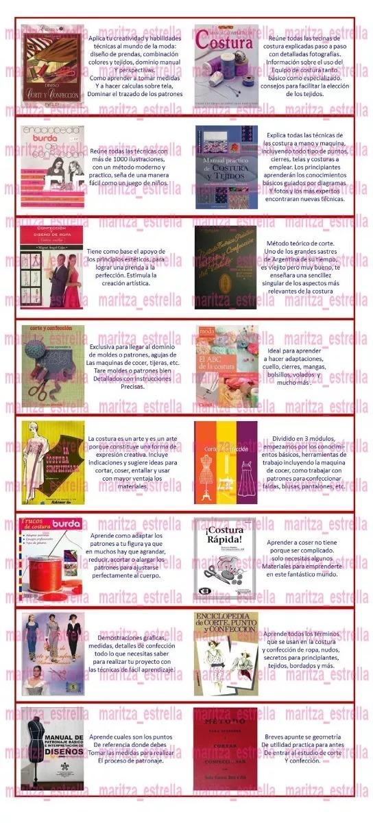 Patrones Corte Costura Colección 61 Libros Ilustrados+videos - U$S 5 ...