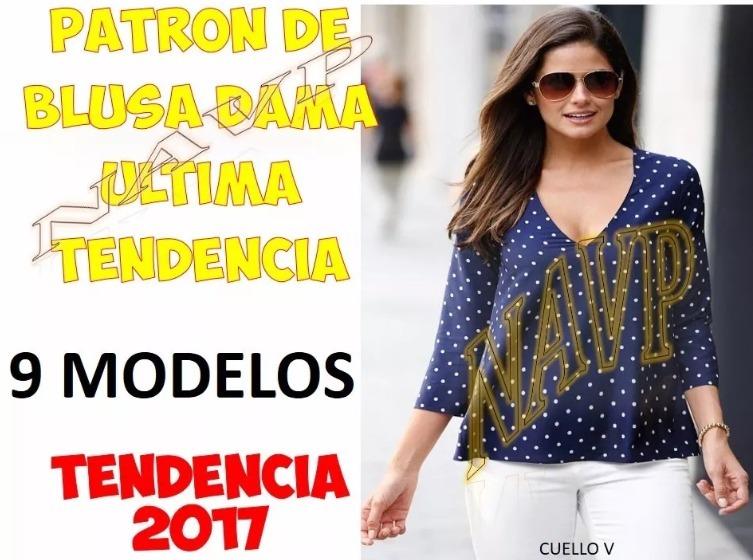 Patrones De Blusas Body Dama Tendencia 2017 Modelos - $ 1.400 en ...