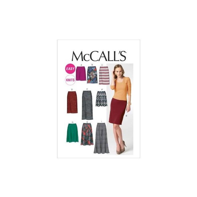 Patrones De Costura M6654 Misses Faldas Plantilla De Costura ...