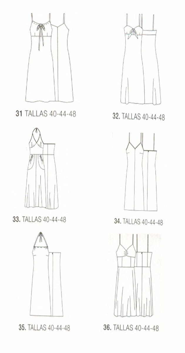 Patrones De Costura Para Vestidos - Bs. 1.000,00 en Mercado Libre