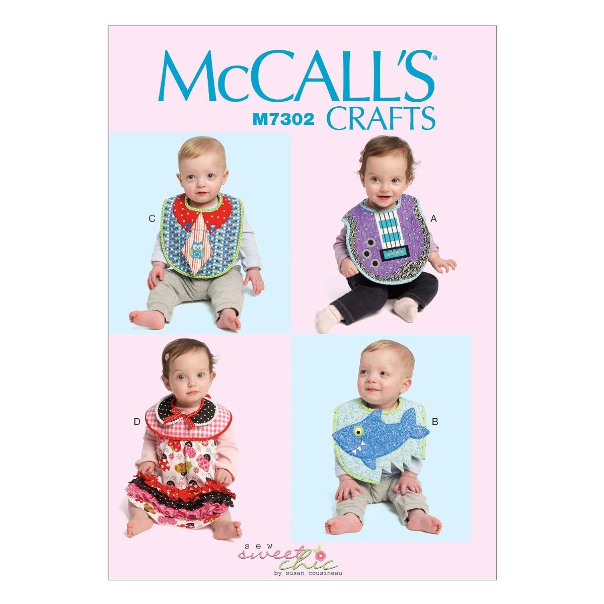 Patrones De Mccall M7302 Babysplash Baberos, Talla Única - $ 539.00 ...