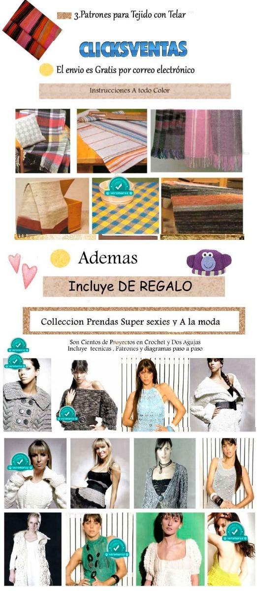 Patrones De Ropa Crochet, Tejido Dos Agujas, Telar - $ 5.500 en ...