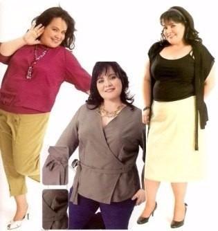 patrones de ropa para gorditas embarazadas tallas grandes