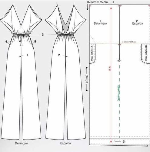 patrones de ropa y trajes de baño