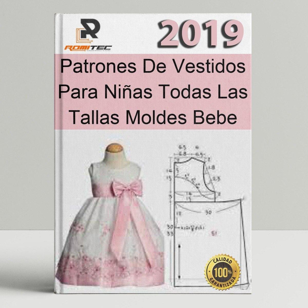 Patrones De Vestidos Para Niñas Todas Las Tallas Moldes Bebe - $ 50 ...