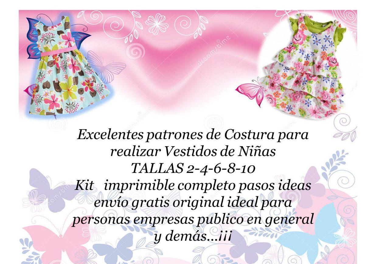 Patrones De Vestidos Para Niñas Todas Las Tallas Moldes Bebe ...