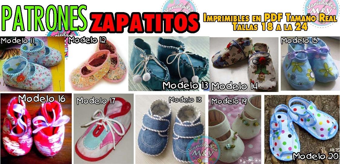 2b1136ab7 patrones en pdf de zapatitos bebés telas moldes tamaño real. Cargando zoom.