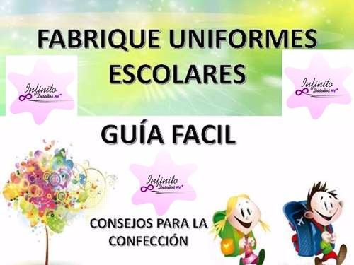 patrones escolares imprimibles. uniformes de niño y niña pdf