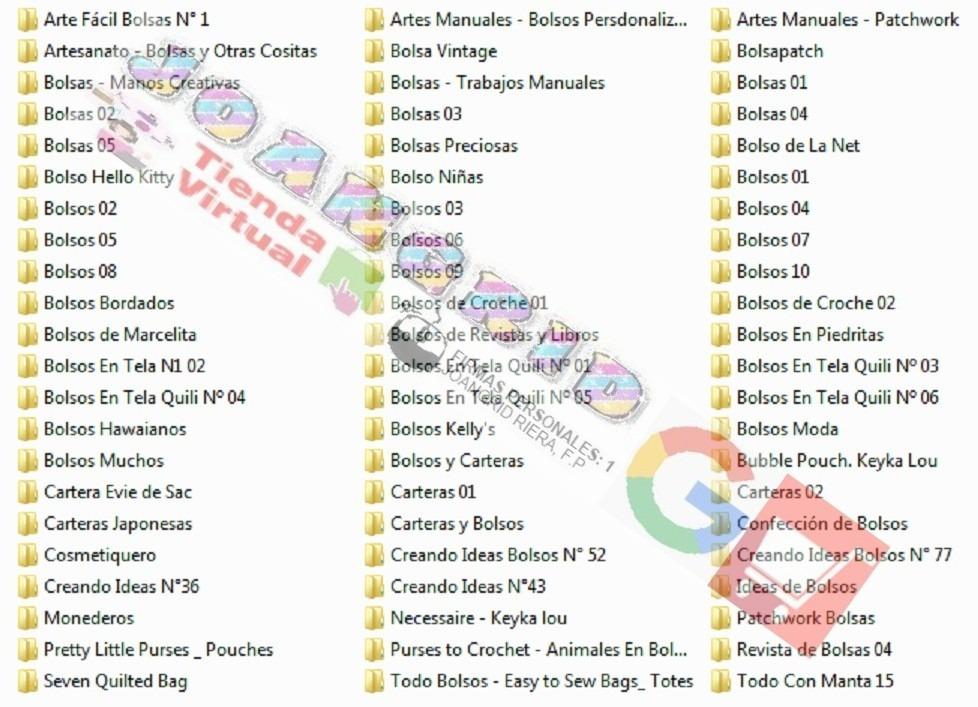 Patrones Kit+ Moldes Morrales Carteras Bolsos Monederos Etc - U$S ...