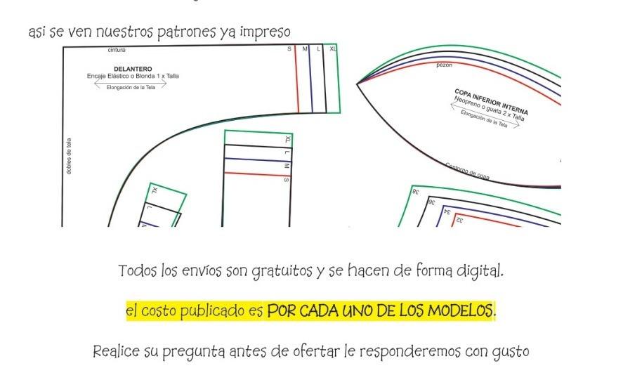Patrones Molde De Pantaletas Tangas Calzón Sexys Imprimible - S/ 5 ...