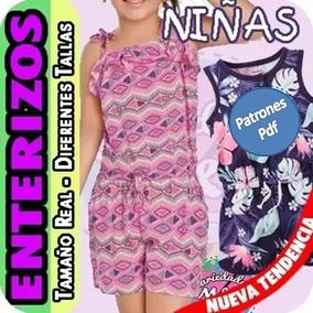 7a0a78602 Patrones Molde Enterizo Niñas Braga Short Mujer Combo Kit