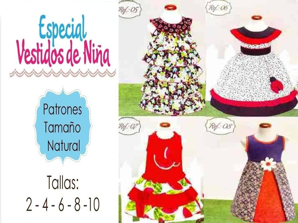 Patrones Moldes Para Elaborar Vestidos De Niñas Faldas - Bs. 35,00 ...