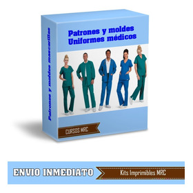 Patrones Moldes Uniformes Medicos Y Mascarillas