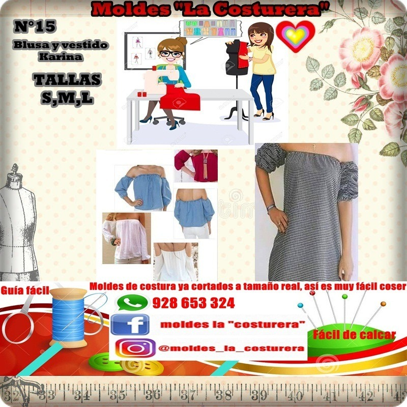 Patrones O Moldes De Costura Blusas Dama - S/ 30,00 en Mercado Libre