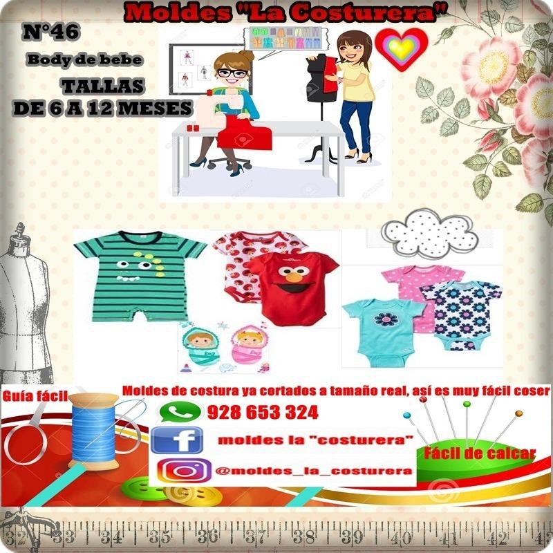Patrones O Moldes De Costura Bodys - S/ 30,00 en Mercado Libre