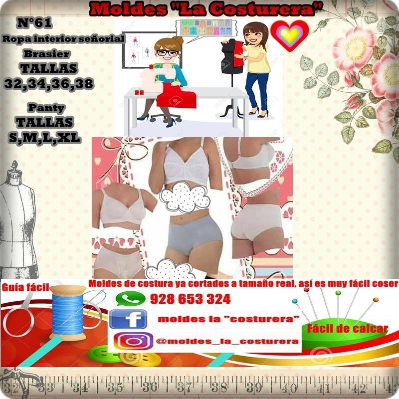 Patrones O Moldes De Costura Conjuntos De Ropa Interior - S/ 40,00 ...