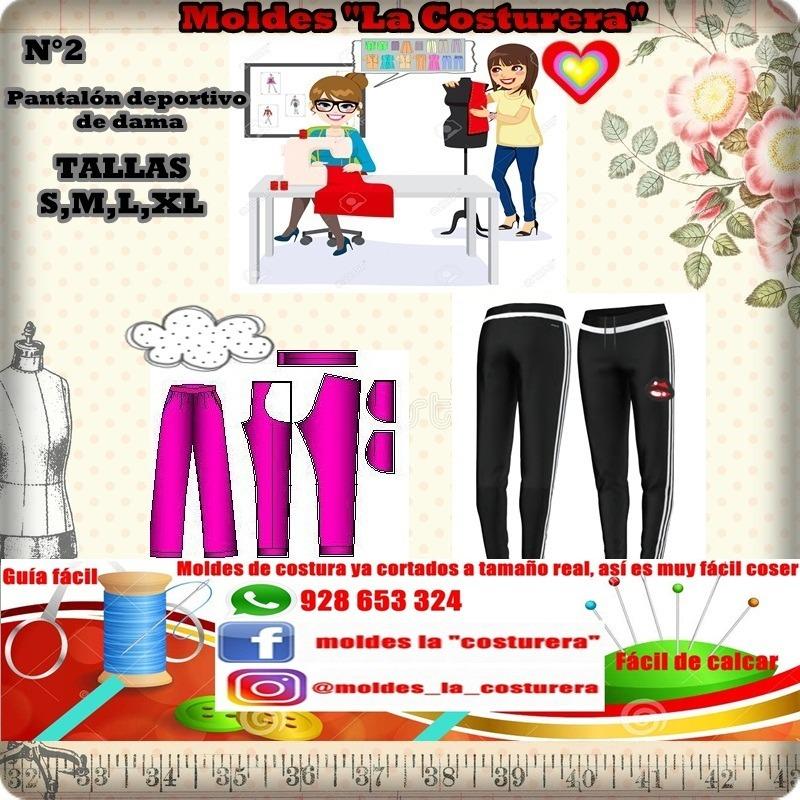 Patrones O Moldes De Costura Pantalones Deportivos - S/ 40,00 en ...