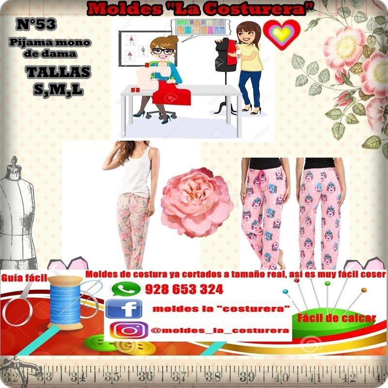Patrones O Moldes De Costura Pijama Dama - S/ 30,00 en Mercado Libre