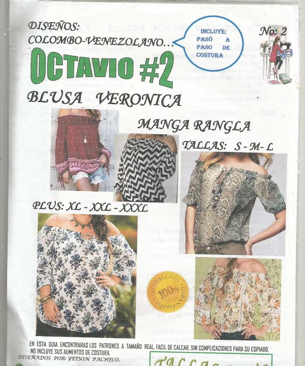 Patrones Octavio Blusa Veronica Manga Rangla - Bs. 199,01 en Mercado ...