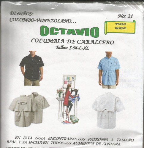 patrones octavio camisa columbia caballero