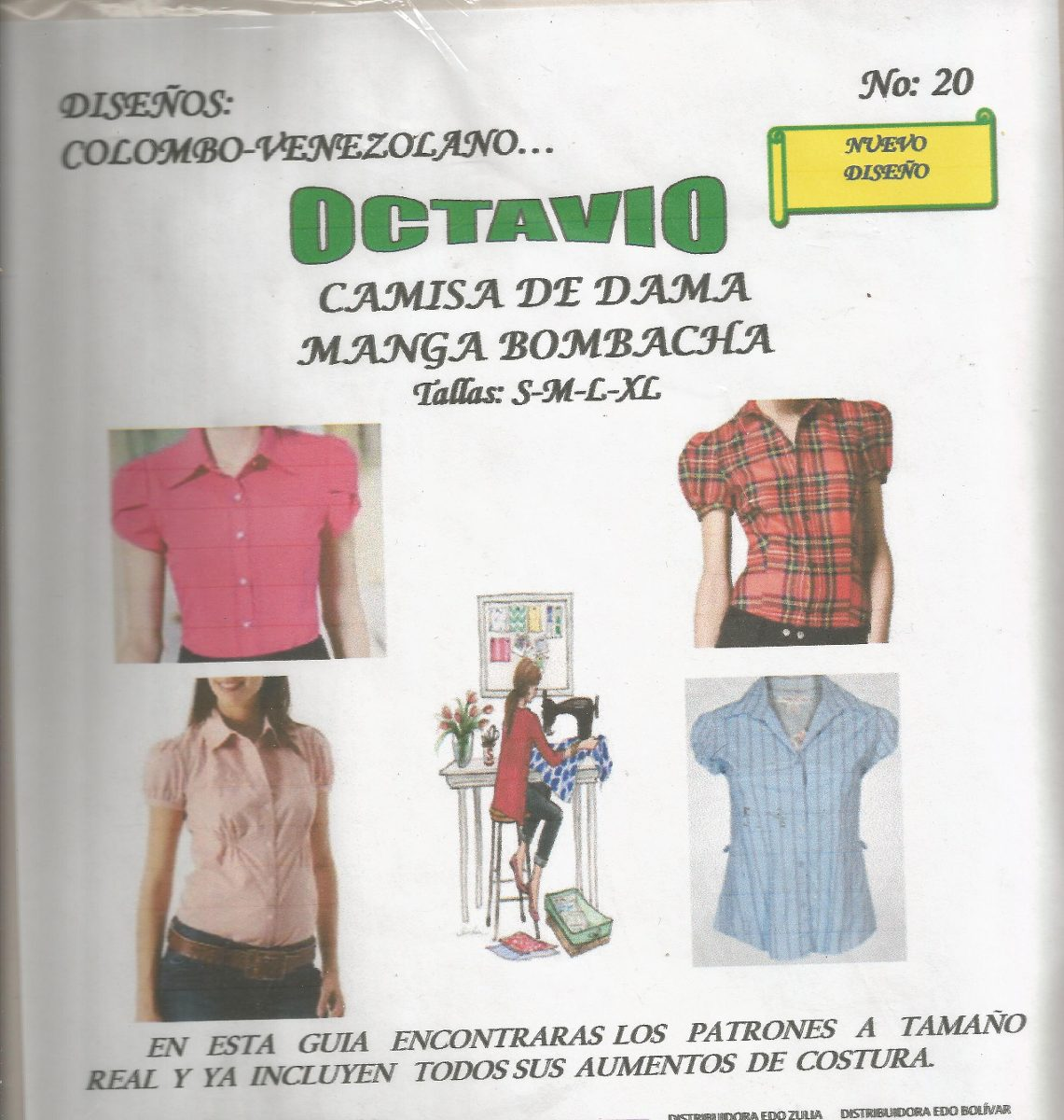 Patrones Octavio Camisa Dama Manga Bombacha #20 - Bs. 2.000,04 en ...