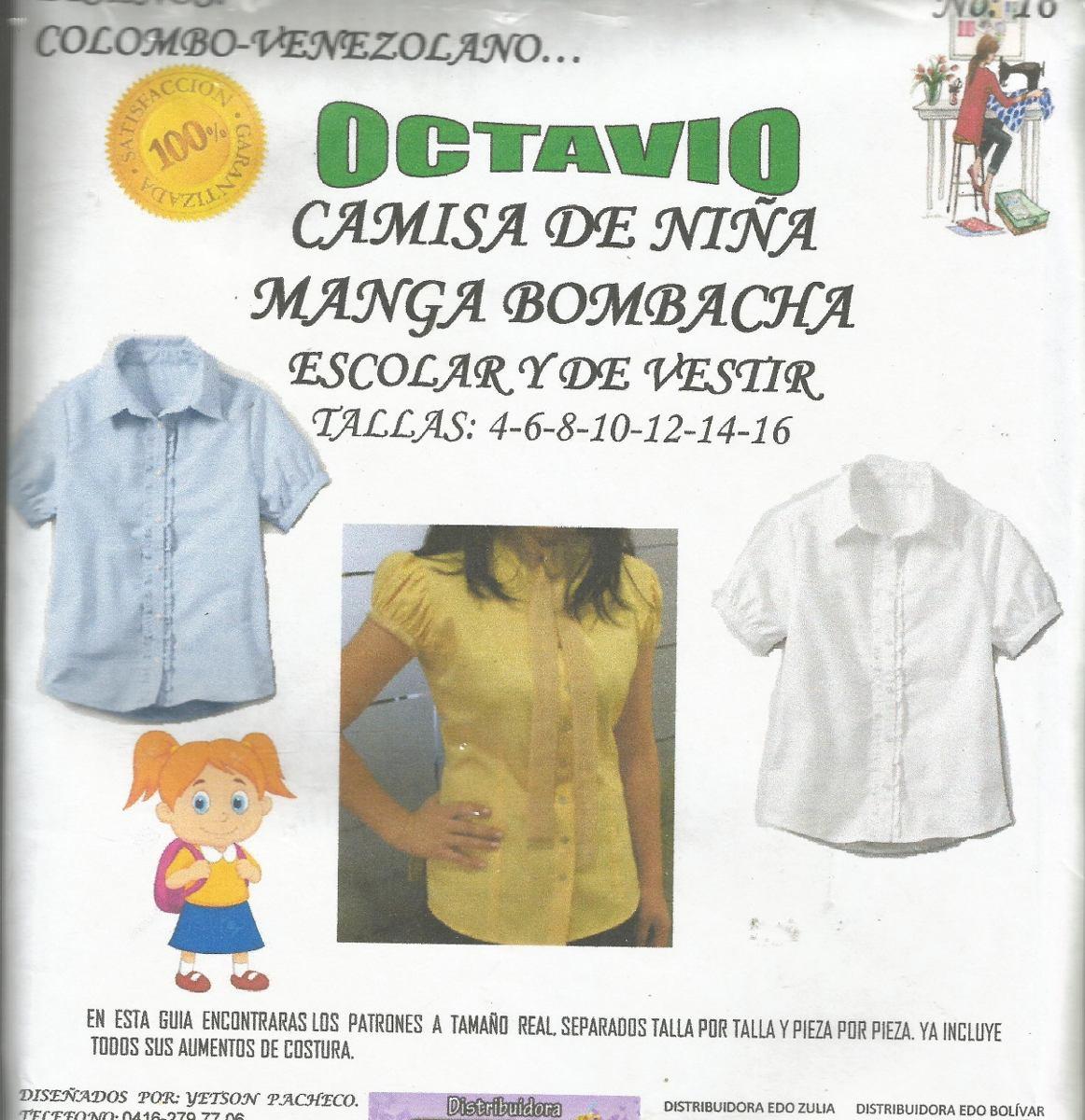 Patrones Octavio Camisa Escolar Niña Manga Bombacha - Bs. 2.499,91 ...