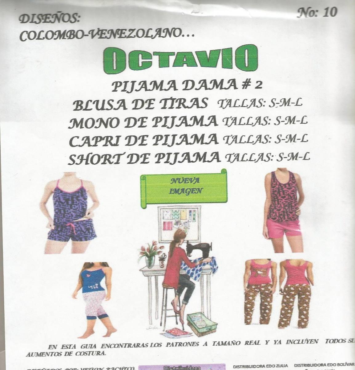 Patrones Octavio Pijama De Dama #10 - Bs. 350,03 en Mercado Libre