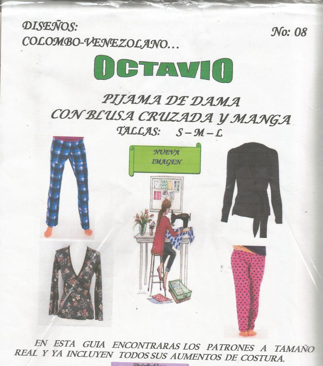 Patrones Octavio Pijama Para Damas - Bs. 450,11 en Mercado Libre