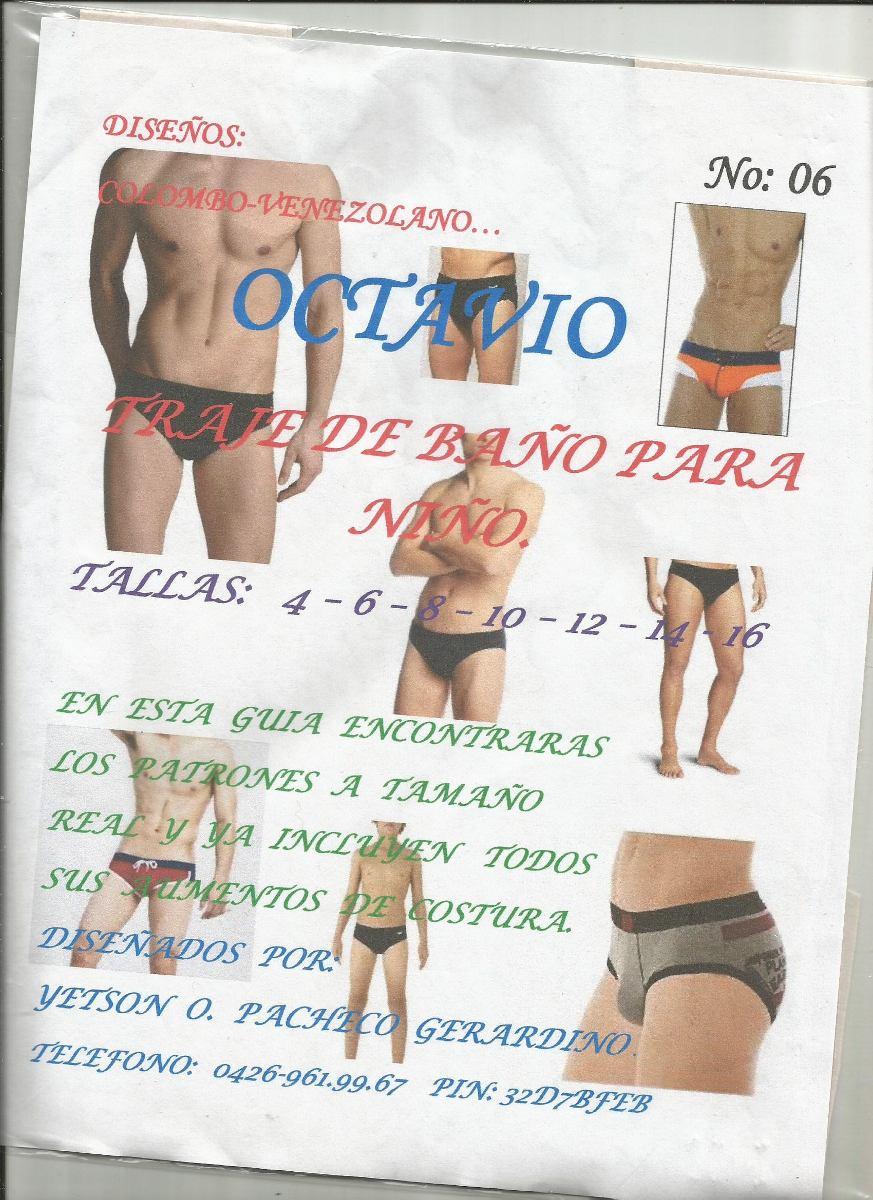 Patrones Octavio Traje De Baño Niños - Bs. 0,11 en Mercado Libre