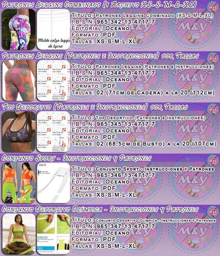 patrones para elaborar licras lycras leggins deportivas dama