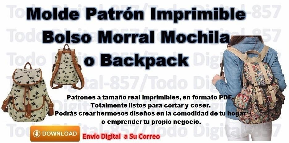 Patrones Pdf Imprimibles Moldes Bolsos Morral Mochila - S/ 3,00 en ...
