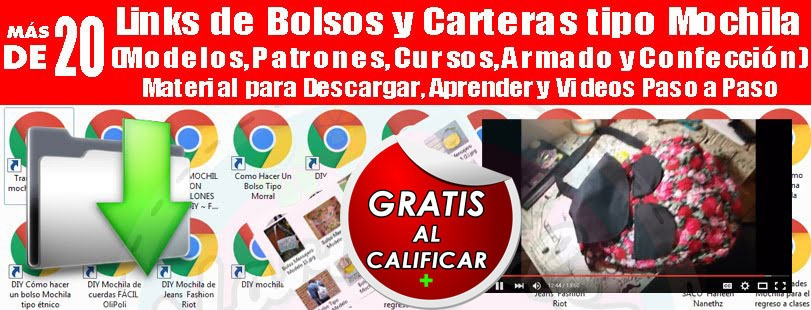 e1fb629c1 Patrones Pdf Imprimibles Moldes Bolsos Morral Mochila +bonos - Bs ...