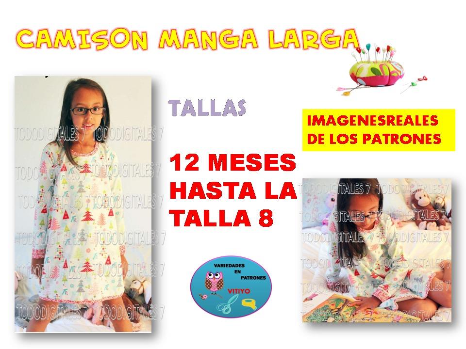 Patrones Pijama Baticas, Camison Niñas Y Bebes 3 Moodelo