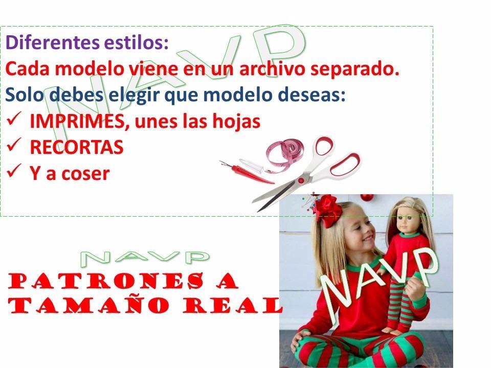 Patrones Pijama De Navidad Niños Niñas Bebe - $ 40,00 en Mercado Libre