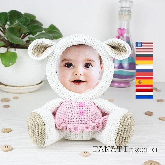 Patrones Portaretratos Animalitos-crochet-(ingl) X5 +1 Reg. - $ 50 ...