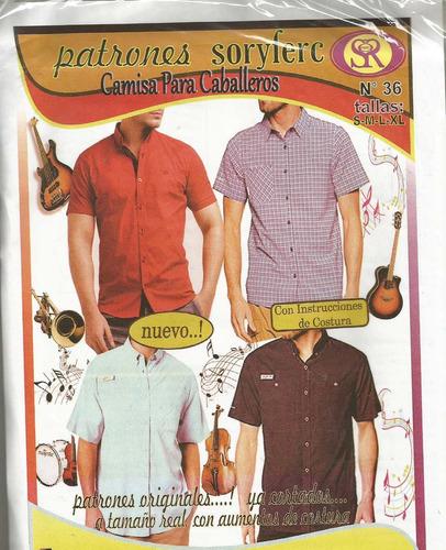 patrones soryfec camisa caballero