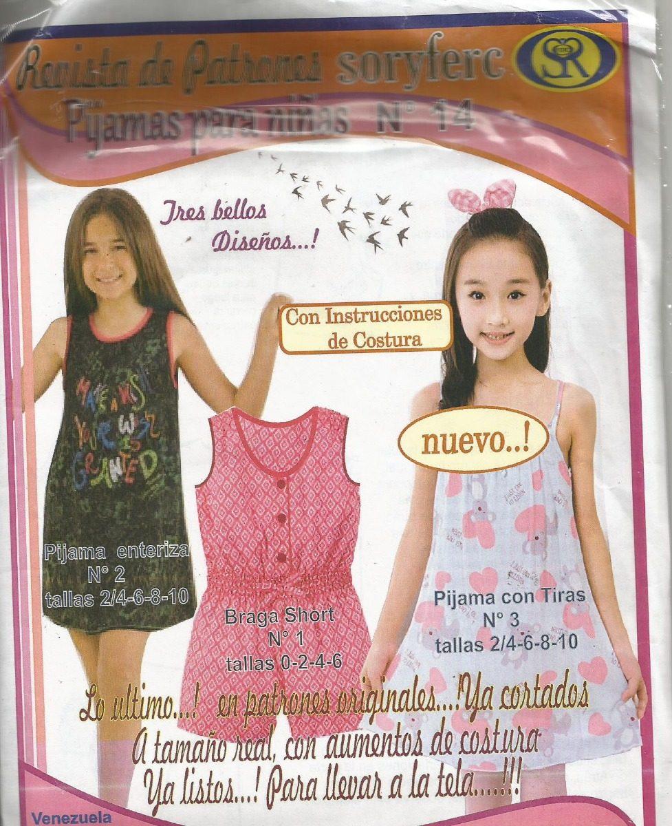 93098eeee patrones soryfec pijama para niñas. Cargando zoom.
