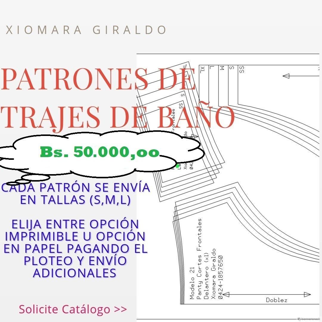 Patrones Trajes De Baño - Imprimibles / Bs. 5 C/u - Bs. 5,00 en ...
