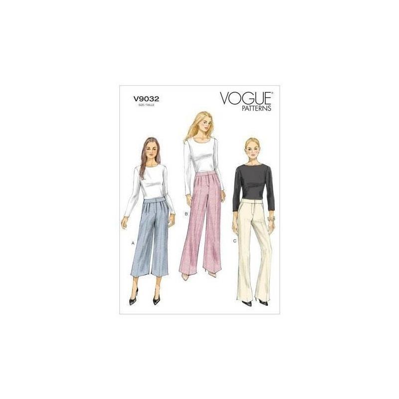 Patrones Vogue V9032 Misses Plantilla De Costura De Pantalon ...