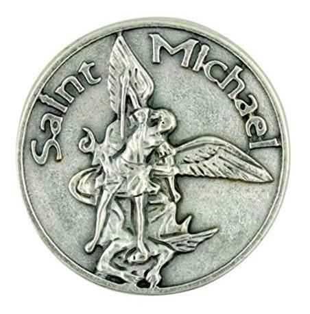 patrono del militar san miguel el arcangel token de bolsillo