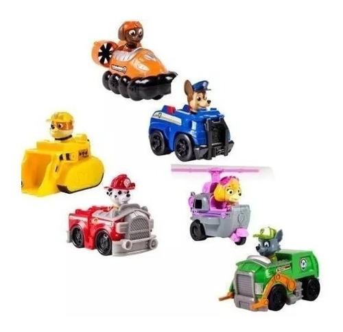 patrulha  canina com 6 carrinhos de fricção - brinquedo rn