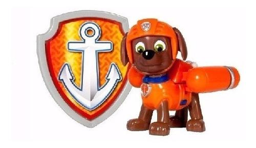 patrulha canina figura com distintivos - zuma