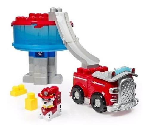 patrulha canina torre de resgate veículo c/ blocos de montar